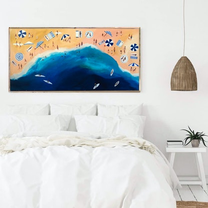 (CreativeWork) Coogee in February  by Marnie McKnight. Acrylic Paint. Shop online at Bluethumb.