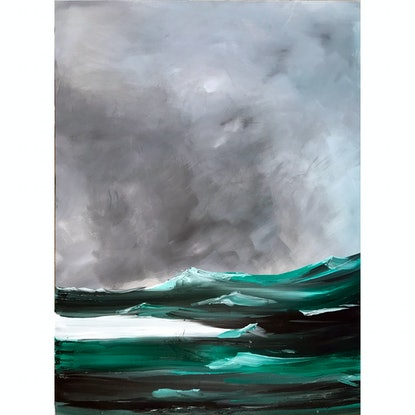 (CreativeWork) The Swell 2 by Monique M. Oil Paint. Shop online at Bluethumb.