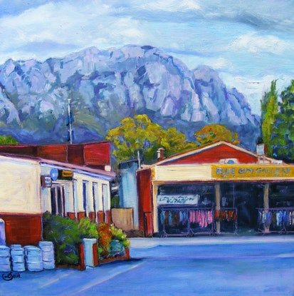 """(CreativeWork) """"COUNTRY TOWN 1"""" by Daniela Selir. Oil Paint. Shop online at Bluethumb."""