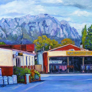 "(CreativeWork) ""COUNTRY TOWN 1"" by Daniela Selir. oil-painting. Shop online at Bluethumb."