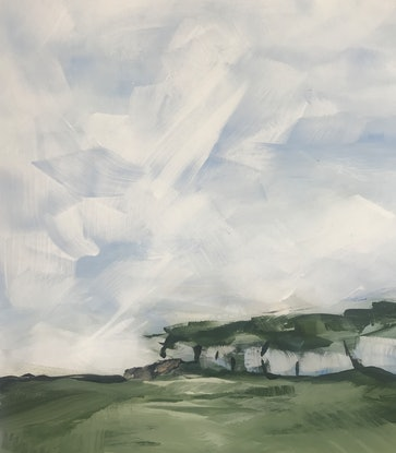 (CreativeWork) Back Road to Castlemaine, two by Judith Lanigan. Acrylic Paint. Shop online at Bluethumb.