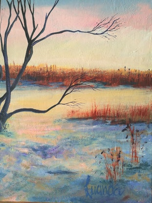 (CreativeWork) A Quiet Moment by Lucinda Leveille. Oil Paint. Shop online at Bluethumb.