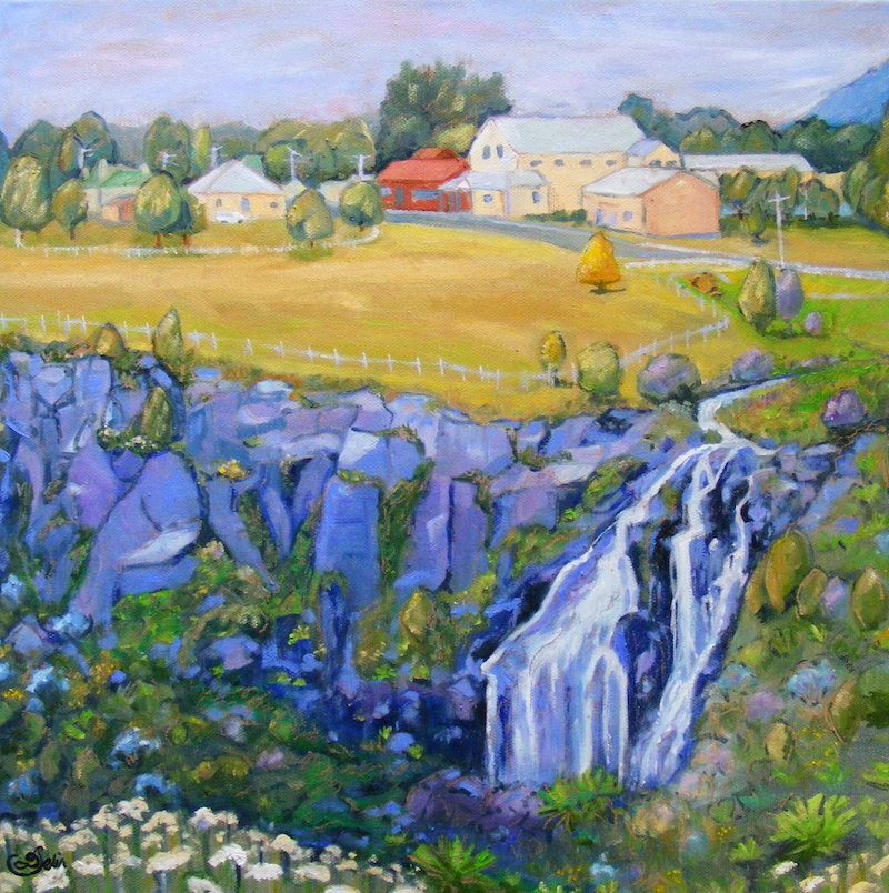 """(CreativeWork) """"COUNTRY TOWN 4"""" by Daniela Selir. Oil Paint. Shop online at Bluethumb."""