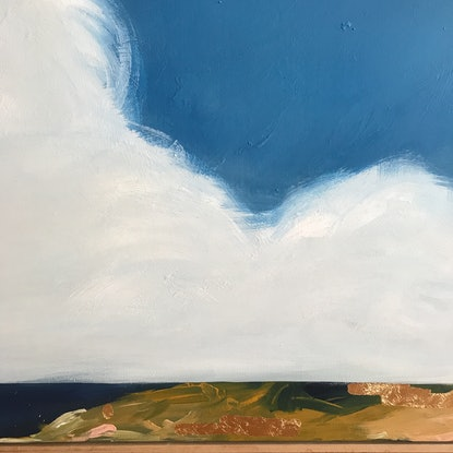(CreativeWork) Cotton Wool Clouds by Marnie McKnight. Acrylic Paint. Shop online at Bluethumb.