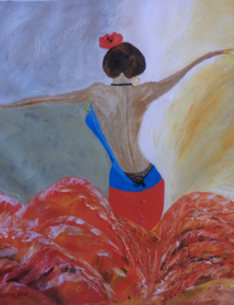 (CreativeWork) Dancer by GLENN SPECK. Oil Paint. Shop online at Bluethumb.
