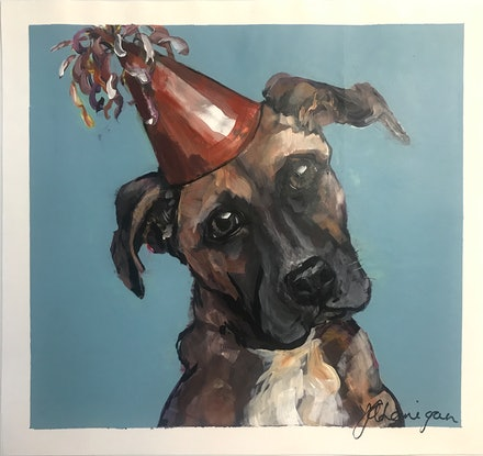 (CreativeWork) Edward the Great (Dane) by Judith Lanigan. Acrylic Paint. Shop online at Bluethumb.