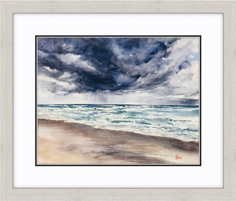 (CreativeWork) Welcome Rain Original watercolour painting  by Chris Hobel. Watercolour Paint. Shop online at Bluethumb.