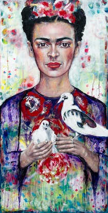 (CreativeWork) Frida's Love Limited Edition Giclee Fine Art Print   by Tanya Cole. Print. Shop online at Bluethumb.