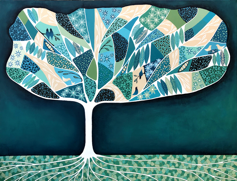 (CreativeWork) Once Upon A Tree  by Lisa Frances Judd. Acrylic Paint. Shop online at Bluethumb.