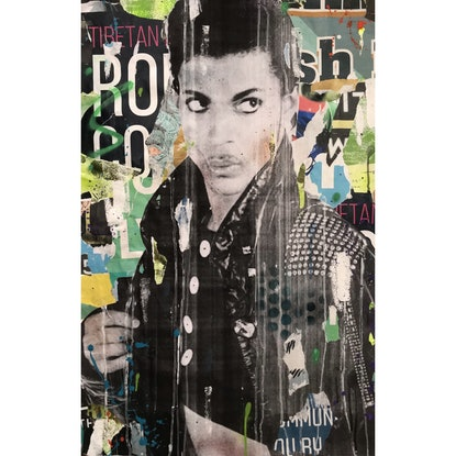 (CreativeWork) Street Icon 127 - Prince by Cold Ghost. Mixed Media. Shop online at Bluethumb.
