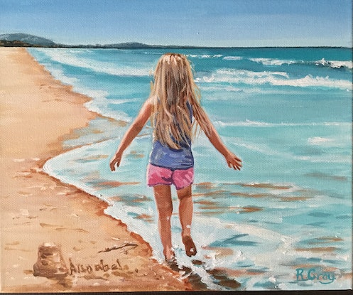 (CreativeWork) Annabel by Robyn Gray. Acrylic Paint. Shop online at Bluethumb.