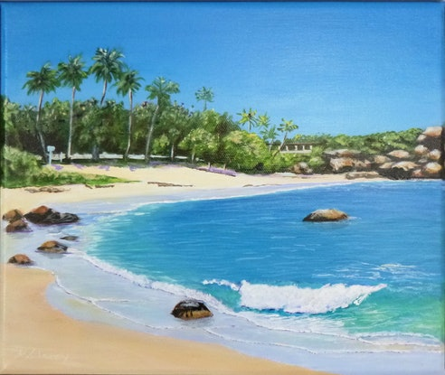 (CreativeWork) Horseshoe Bay Bowen by Deb Clancy. Acrylic Paint. Shop online at Bluethumb.