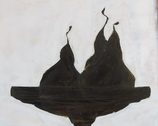 (CreativeWork) The Three Wise Pears by Bronwen Hunt. Oil Paint. Shop online at Bluethumb.