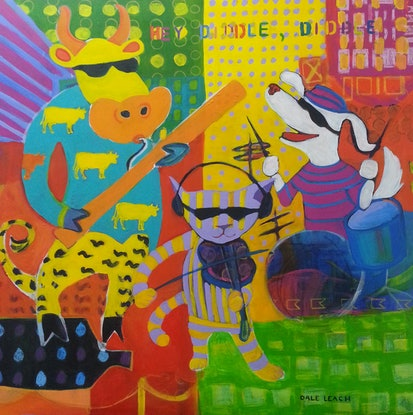(CreativeWork) Hey Diddle Diddle by Dale Leach. Mixed Media. Shop online at Bluethumb.