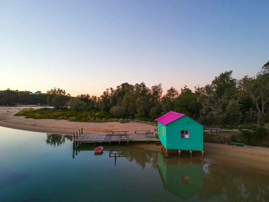 (CreativeWork) Mitchies Jetty at Dawn Ed. 1 of 10 by Stephanie Tuckfield. Photograph. Shop online at Bluethumb.