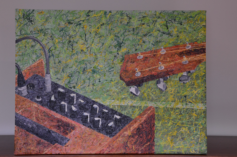 (CreativeWork) Guitar Amp by John Waltrich. Acrylic Paint. Shop online at Bluethumb.