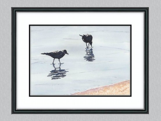 (CreativeWork) In The Shallows by Debbie Brophy. Watercolour Paint. Shop online at Bluethumb.