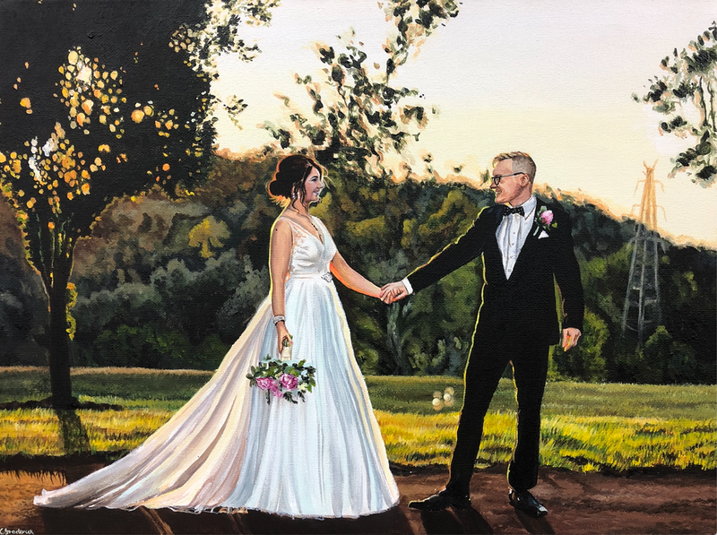(CreativeWork) Forever by Caitlin Broderick. Acrylic Paint. Shop online at Bluethumb.