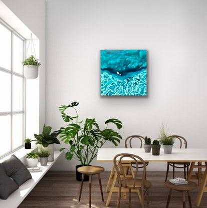 (CreativeWork) Rotto Reef by Pip Phelps. Acrylic Paint. Shop online at Bluethumb.