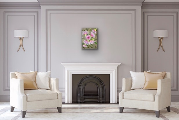 (CreativeWork) The Pink Ladies   by Pip Phelps. Acrylic Paint. Shop online at Bluethumb.