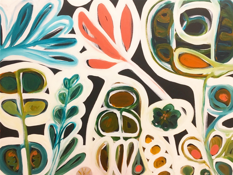 (CreativeWork) Winter Garden by Sarah Morrow. Acrylic Paint. Shop online at Bluethumb.