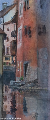 (CreativeWork) French Quarter by David Humphries. Watercolour Paint. Shop online at Bluethumb.