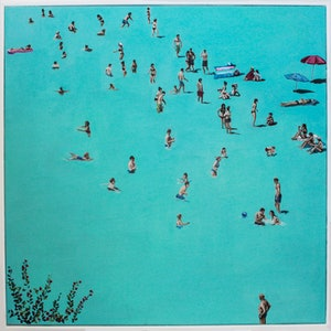(CreativeWork) Beach Day by Amanda Cameron. oil-painting. Shop online at Bluethumb.