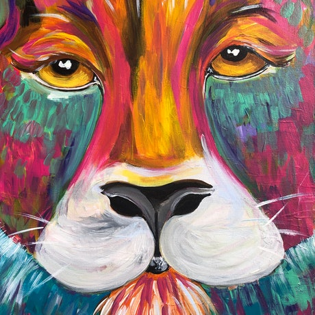 (CreativeWork) King  by Nicola Toms. Acrylic Paint. Shop online at Bluethumb.