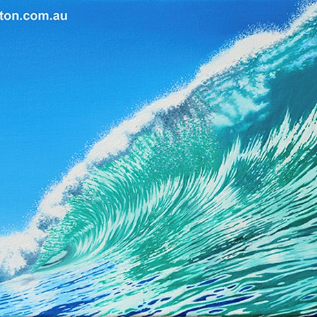 (CreativeWork) Turquoise Break by Mark Kingston. Oil Paint. Shop online at Bluethumb.