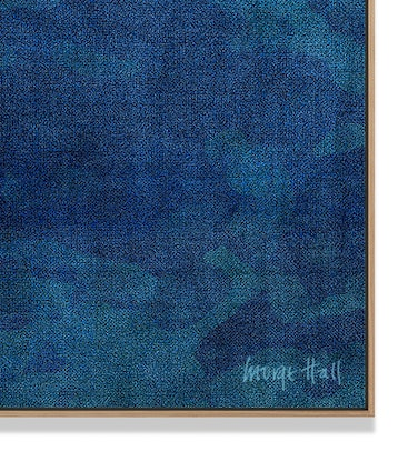 (CreativeWork) 'The Gradual Voyage' mixed media on Canvas in Tasmanian Oak Frame, Ready to hang by George Hall. Mixed Media. Shop online at Bluethumb.