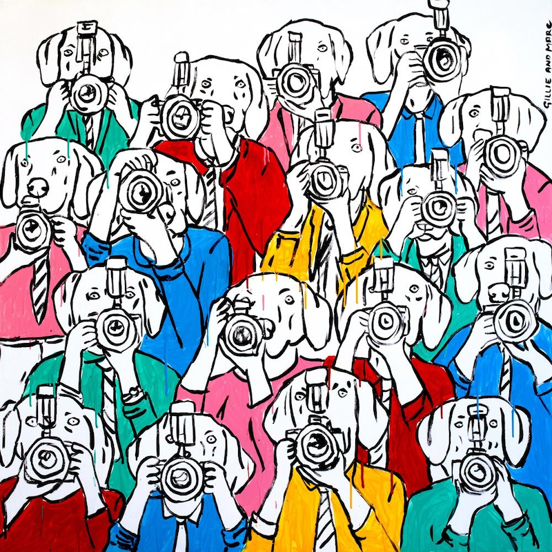 (CreativeWork) The paparazzi pack by Gillie and Marc Schattner. Print. Shop online at Bluethumb.