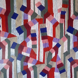 (CreativeWork)  THE LETTER A by Stuart Cole. arcylic-painting. Shop online at Bluethumb.