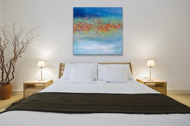 (CreativeWork) Starry Sky  by Theo Papathomas. Oil Paint. Shop online at Bluethumb.