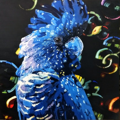 (CreativeWork) Everybody agreed that Sharon threw the best parties. by Karen Bloomfield. Oil Paint. Shop online at Bluethumb.