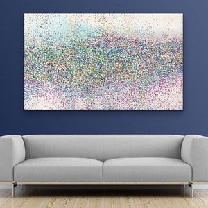 (CreativeWork) Sea of Petals  by Theo Papathomas. oil-painting. Shop online at Bluethumb.