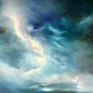 (CreativeWork) Venturing Into The Unknown by Elaine Green. oil-painting. Shop online at Bluethumb.