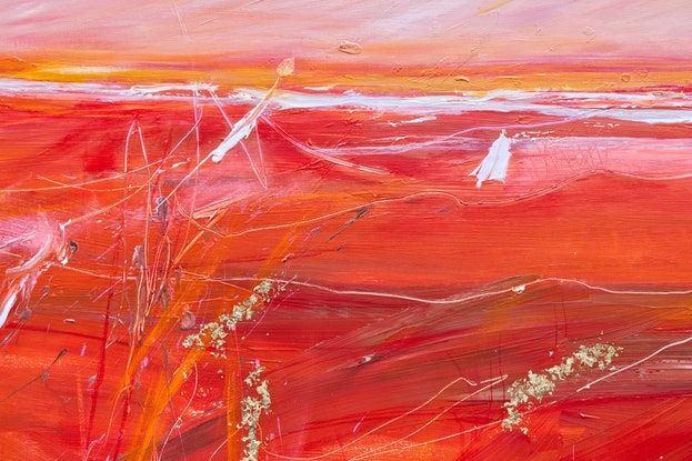 (CreativeWork) Red Winter by Tania Chanter. Mixed Media. Shop online at Bluethumb.