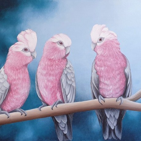 (CreativeWork) Early Birds by Erin Hale. Acrylic Paint. Shop online at Bluethumb.