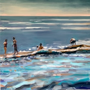 (CreativeWork) Seekers by Sara Roberts. oil-painting. Shop online at Bluethumb.