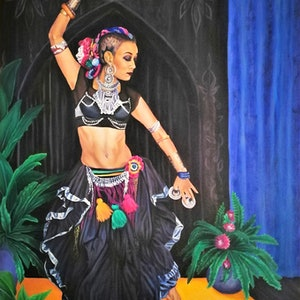(CreativeWork) The Art of Dance by Louise Taylor. acrylic-painting. Shop online at Bluethumb.