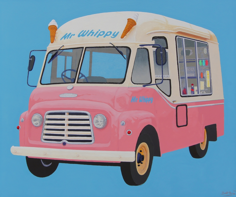 (CreativeWork) Mmm... Mr Whippy by BRETT ROSE. acrylic-painting. Shop online at Bluethumb.