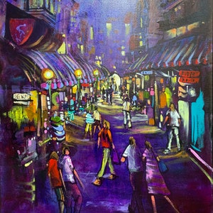(CreativeWork) Night Moves - Original Artwork  by Donald James Waters OAM. acrylic-painting. Shop online at Bluethumb.