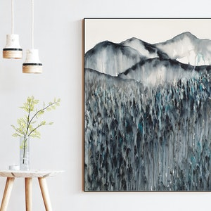 (CreativeWork) Field of Dreams at Midnight (Original Watercolour Landscape on Paper) by Leni Kae. watercolour. Shop online at Bluethumb.