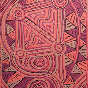 (CreativeWork) Mina Mina Jukurrpa (Mina Mina Dreaming) -  Ngalyipi by Pauline Napangardi Gallagher. Acrylic Paint. Shop online at Bluethumb.
