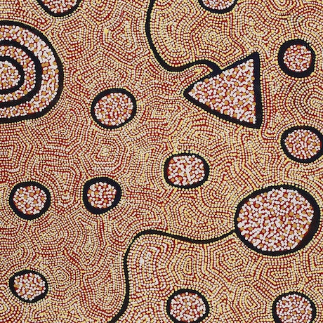 (CreativeWork) Ngapa Jukurrpa (Water Dreaming)  -  Puyurru 4143/18 (M) by Shanna Napanangka Williams. Acrylic Paint. Shop online at Bluethumb.