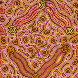 (CreativeWork) Lappi Lappi Jukurrpa (Lappi Lappi Dreaming) by Kelly Napanangka Michaels. #<Filter:0x0000556b335dc6d8>. Shop online at Bluethumb.