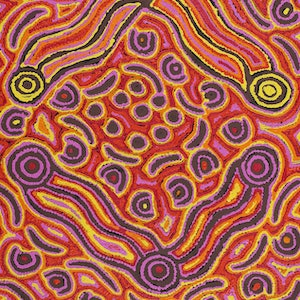 (CreativeWork) Lappi Lappi Jukurrpa (Lappi Lappi Dreaming) by Kelly Napanangka Michaels. #<Filter:0x0000556b33531a58>. Shop online at Bluethumb.