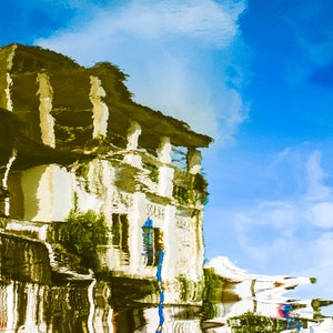(CreativeWork) Villa by the River - Framed Edition by Ben Goh. #<Filter:0x00007fa57ce14c80>. Shop online at Bluethumb.