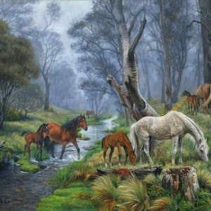 (CreativeWork) MOUNTAIN BRUMBY COUNTRY  Ed. 4 of 25 by Jennifer Marshall. print. Shop online at Bluethumb.