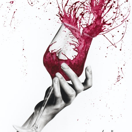 (CreativeWork) Wine Twirl by Ashvin Harrison. Acrylic Paint. Shop online at Bluethumb.